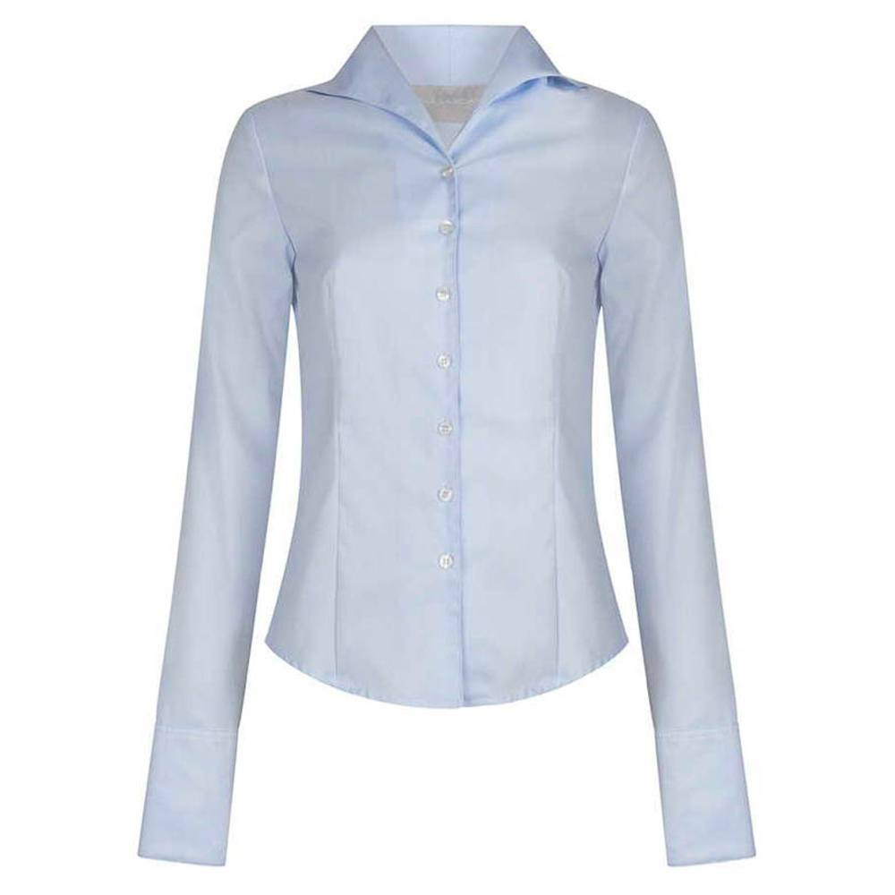 Damesblouse Tulip Herringbone blue